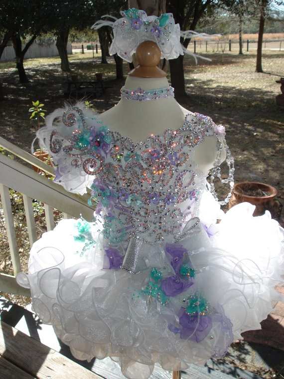 National Glitz Pageant Dress Custom Order by by NanaMarieDesigns. , via Etsy.