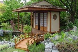 barkyard retreat | Beautiful backyard with Japanese Teahouse and a koi pond [Design ...