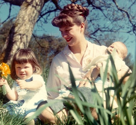 Siv, Nicholas, and Freya.  The American poet, Sylvia Plath, with her daughter and son, Frieda and Nicholas Hughes.