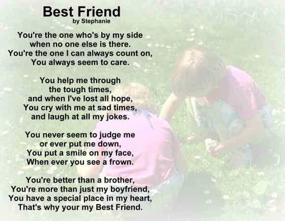 Best Love Friendship Poems | Poetry Greeting Cards - Love Poem - Best Friend