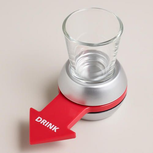 One of my favorite discoveries at WorldMarket.com: Spin-the-Shot Drinking Game