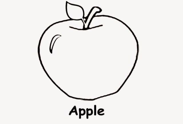 Exclusive Image Of Coloring Pages For 3 Year Olds Apple Coloring