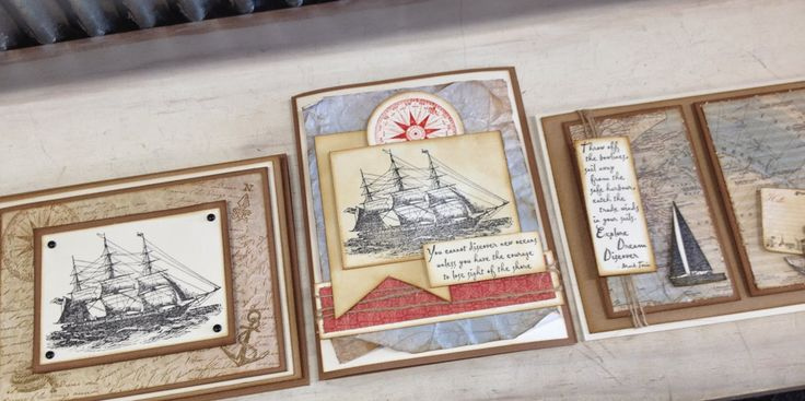 Ink2Paper - a masculine set of cards using Darkroom Door stamps