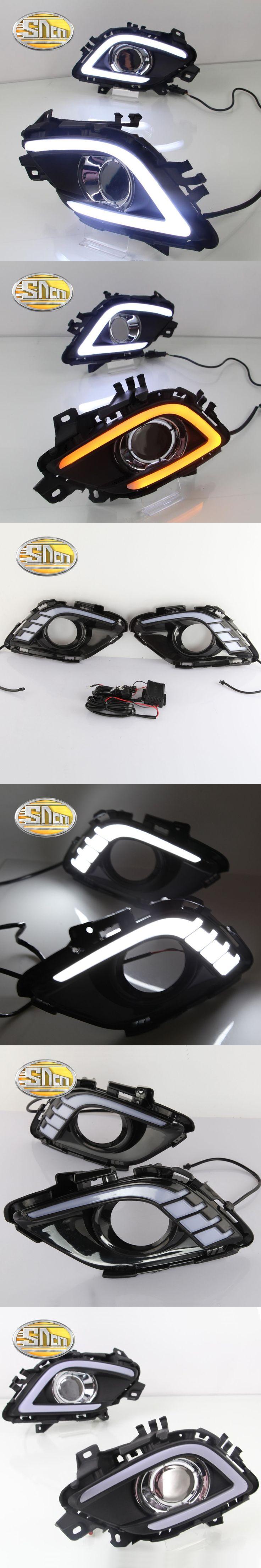 SNCN LED Daytime Running Light For Mazda 6 2013 2014 2015 2016,Car Accessories Waterproof ABS 12V DRL Fog Lamp Decoration
