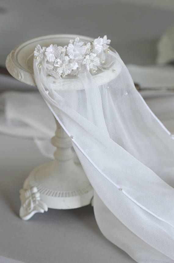 Vintage Wedding Silk Veil