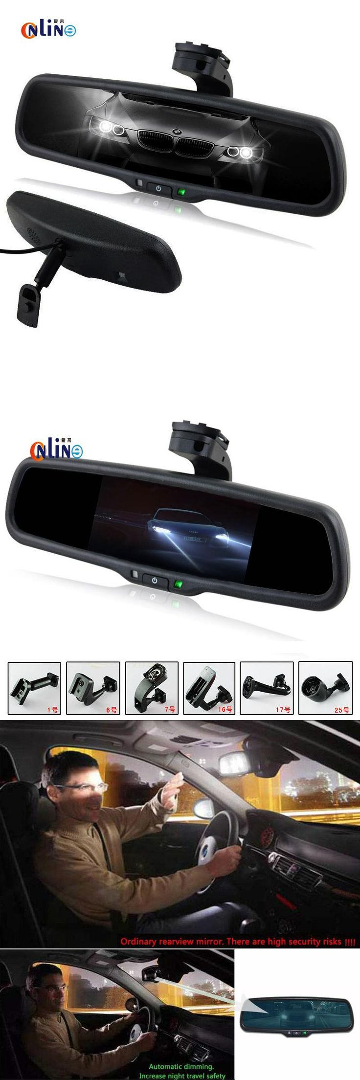 visit to buy clear view special bracket car electronic auto dimming interior rearview mirror
