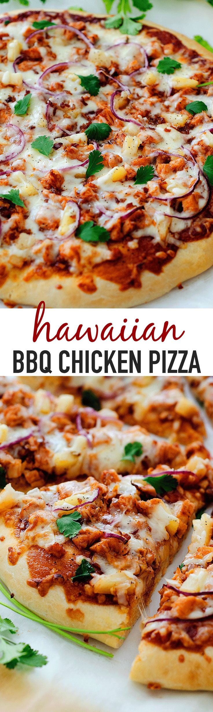 This Hawaiian BBQ Chicken Pizza is my family's favorite! I use our tried and true HOMEMADE PIZZA DOUGH and pile on all the toppings. Barbecue sauce, chicken, mozzarella cheese and a few more goodies that make this pie outstanding. We have a pizza night almost once a week at our house. Usually on Friday... Read More »