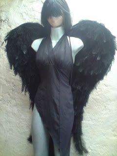 disfraz casero de Angel Caído con patron de las alas | idisfraz