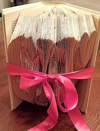 Speciaal gevouwen boek voor Valentijnsdag