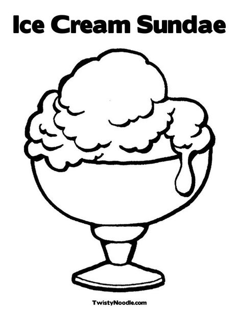 Coloring pages ice cream sundae