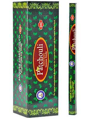 Η SAC προσφέρει μια πολύ μεγάλη επιλογή σε στικάκια από την Ινδία . Αυτά είναι διαθέσιμα σε συσκευασίες των 20 κομματιών. To Patchouli είναι μέρος της κλασικής σειράς.
