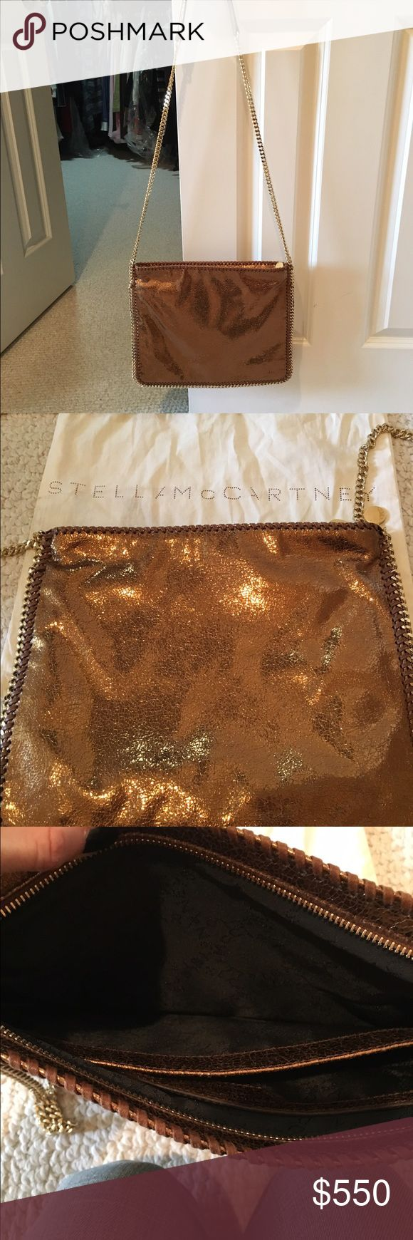 New Stella McCartney bronze large crossbody bag Gorgeous & new! Hard to find (was limited edition at Saks only) bronze large Stella McCartney crossbody/shoulder bag! 2 large compartments inside along with a smaller pocket. Comes with dust bag. Stella McCartney Bags Crossbody Bags