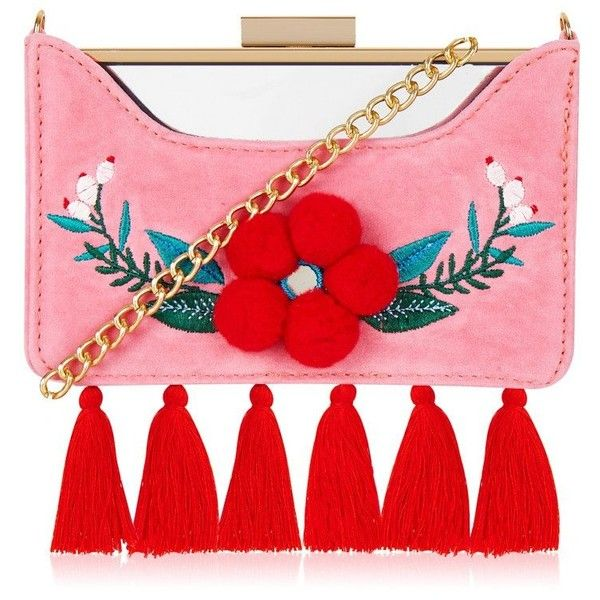 Folk Rita Clutch Bag ($46) ❤ liked on Polyvore featuring bags, handbags, clutches, red hand bags, holographic purse, handbags clutches, purse clutches and red handbags