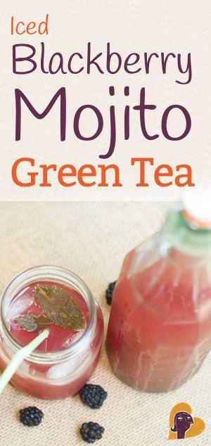 Iced Blackberry Mojito Green Tea Recipe (Paleo, AIP | Mojito, Green ...