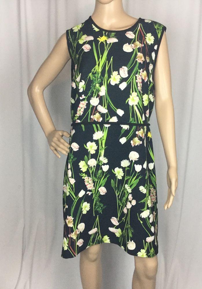 fa8fb20ab4d Victoria Beckham for Target Black English Floral Satin Dress sz XL   VictoriaBeckham