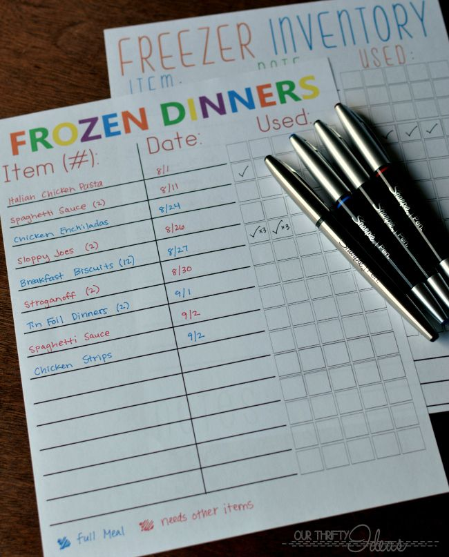 a perfect way to keep from getting mystery food from falling into the black hole of your freezer.  Great free printable pack  #ad #EverydaySharpie #pmedia
