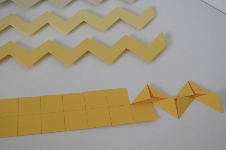 making paper chevron stripes