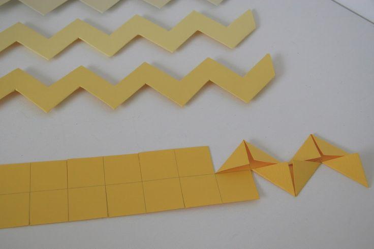 making paper chevron stripes