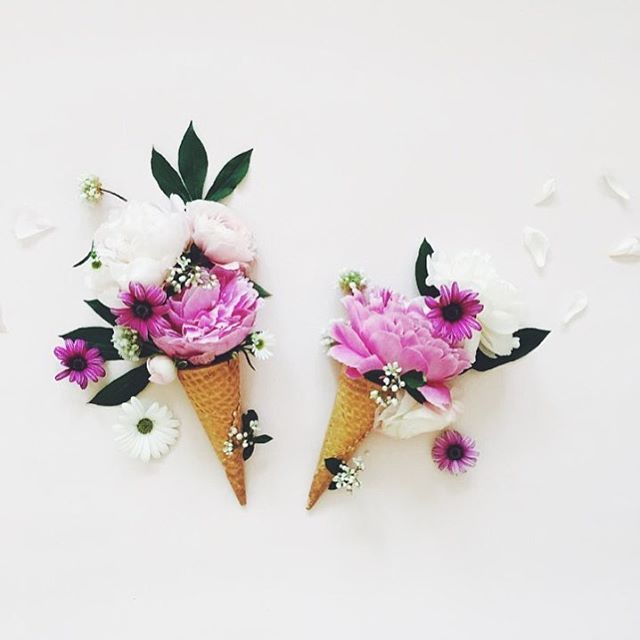 apparently flowers in ice cream cones is a thing and we certainly approve  (: @you.r_flower)