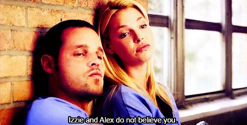Alex Karev & Izzie Stevens - love this one