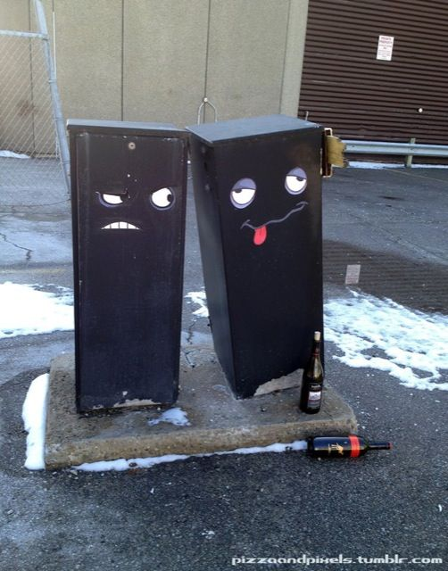 Best Street Art Images On Pinterest Urban Art Street Art - Street artist turns street furniture into characters