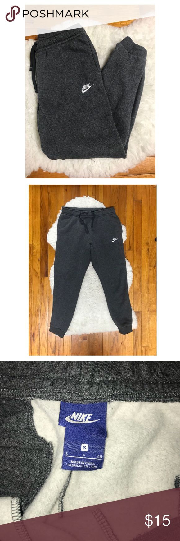 Men's Grey Nike Jogger Pants *New without tags* These Nike joggers are in perfect condition. Very soft inside with an elastic waistband. Size Small. Nike Pants Sweatpants & Joggers