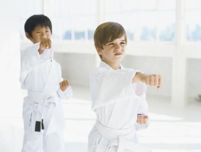 Kid's Karate Games fun to modify for little gym party.