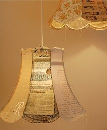 paper lampshades by Jennifer Collier