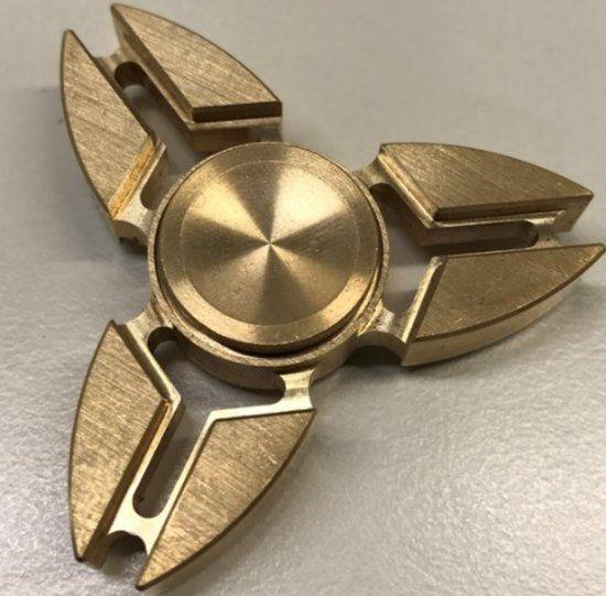 Fidget Spinner - koper kleur - stresverminderende - relaxing spinner
