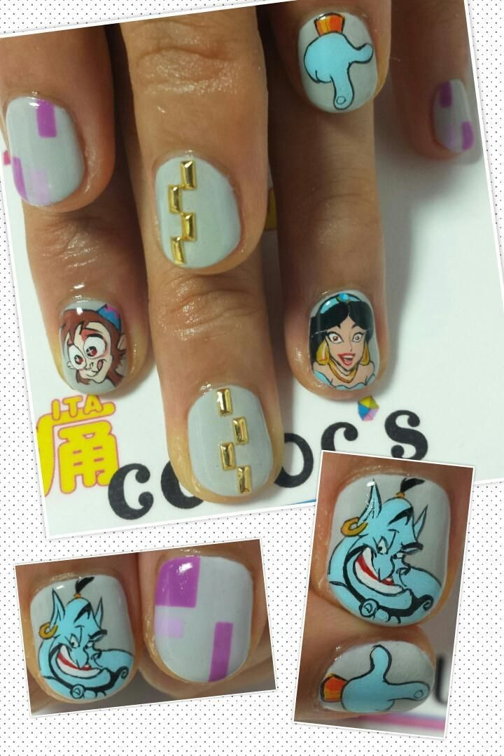 Character Design Nail Art : Best character nail art images on pinterest cute