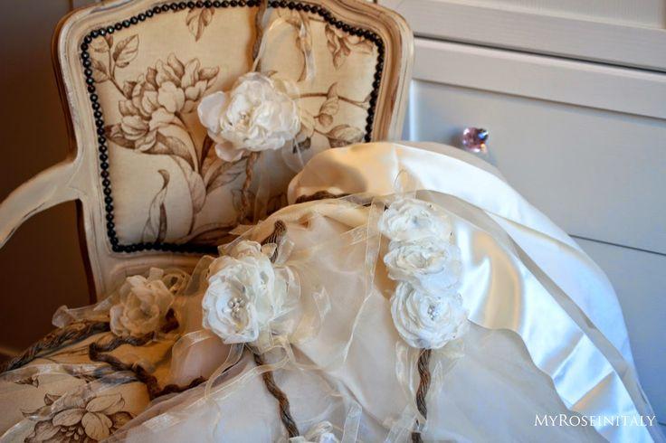 Matrimonio Handmade: ghirlanda di fiori di stoffa