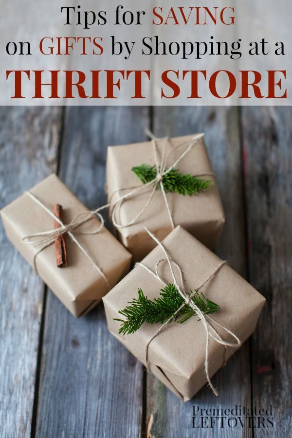 These 12 Tips for Saving on Gifts by Shopping at a Thrift Store will show you how to buy used items at thrift stores and turn them into nice gifts. Some of the gift ideas can be given as is, some of the ideas are to use items from the thrift store in DIY projects. All of the ideas are perfect for Christmas gifts and birthday gifts.