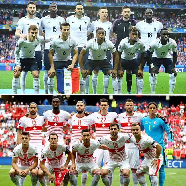 France vs Switzerland ended in a delightful draw in UEFA EURO 2016 Group A match. The scoreless draw was not that bad for both the teams as they both entered in 'Round of 16.' Image credit: Getty Images
