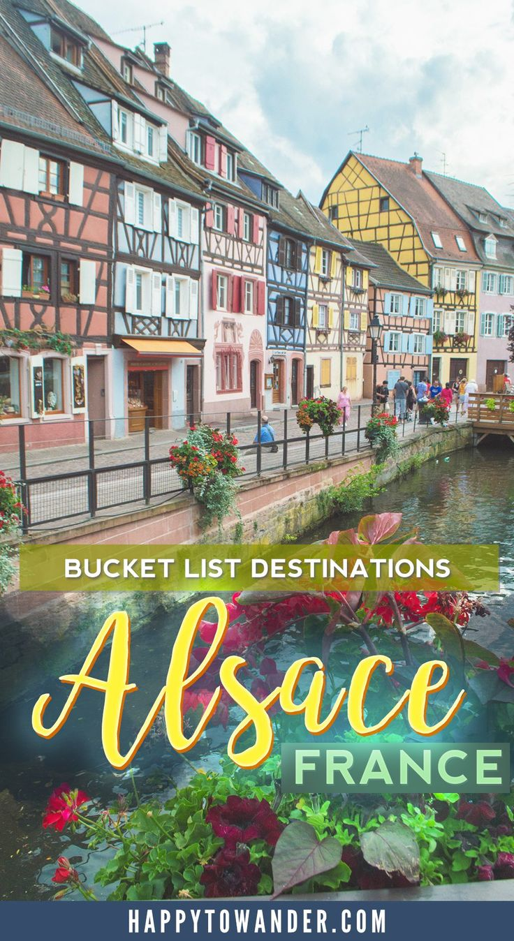 Incredible vacation spot in France! Alsace is a region with beautiful fairytale towns like Colmar and Strasbourg and is the perfect destination for wine lovers and charming towns!