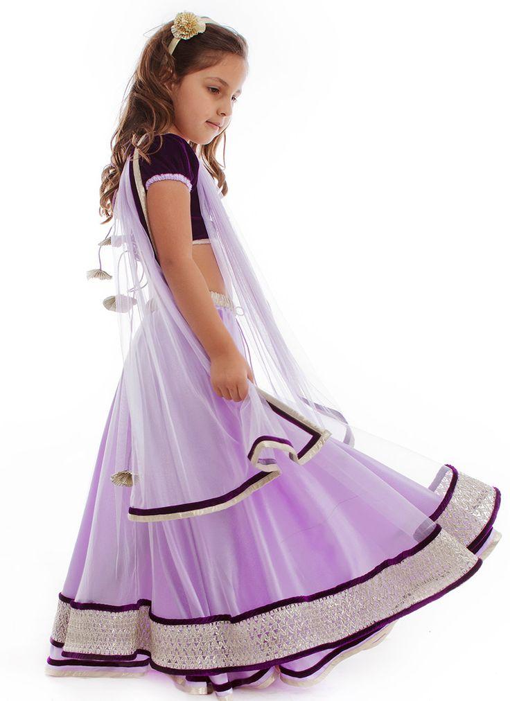 Kidology Maya Nocon Lehenga Choli   Kids Lehengas   Kids Clothing : www.homeindia.com