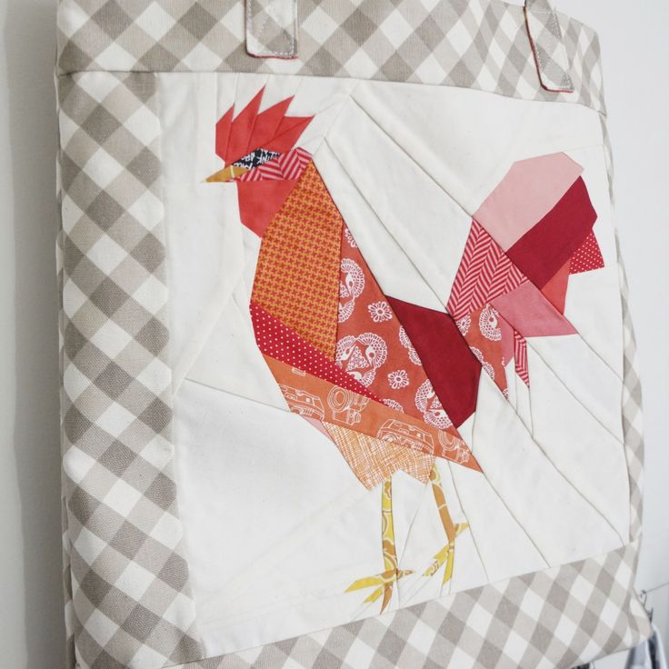 Paper pieced rooster sewing pattern at Sew What Sherlock