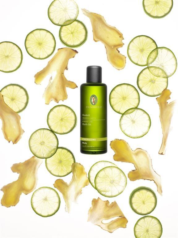 Badeöl Ingwer Limette. Hebt die Stimmung und belebt. Körperpflege. Body Care. Ätherische Öle. Essential Oils. PRIMAVERA. #primaveralife #primavera #aromatherapie