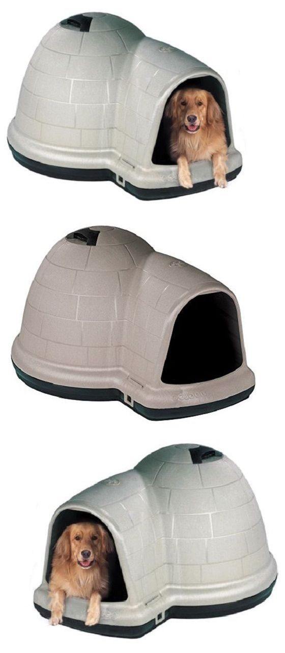 Dog Houses 108884: Outdoor Dog Kennel Heavy Duty Dog House Pet Shelter Offset Doorway With Microban BUY IT NOW ONLY: $107.99