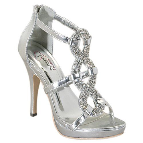 Silver Diamond High Heels
