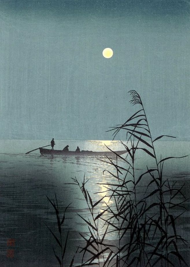 Shoda Koho, Moonlit Sea, c. 1920 庄田耕峰