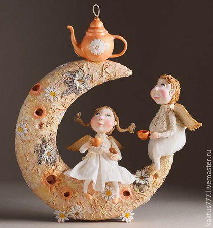 Сказочные персонажи ручной работы. Ярмарка Мастеров - ручная работа. Купить Ромашковый чай - светильник. Handmade. Ангелы, интерьерные куклы