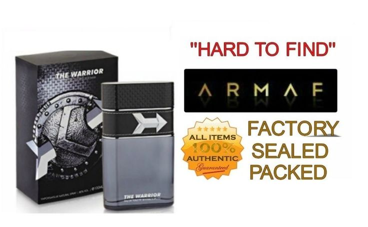 THE WARRIOR by ARMAF for MEN EDT 3.4 OZ NEW in SEALED BOX #ARMAF