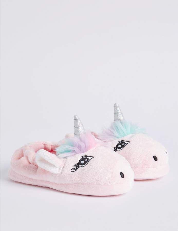 Kids' Slip-on Unicorn Slippers (5 Small