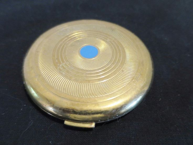Vintage Golden COTY Paris New York COMPACT  with Mirror Air Spun Poudre