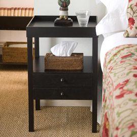 Cubist Dark-Wood Bedside Table