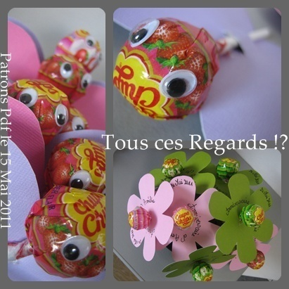 Bouquet et papillons gourmands