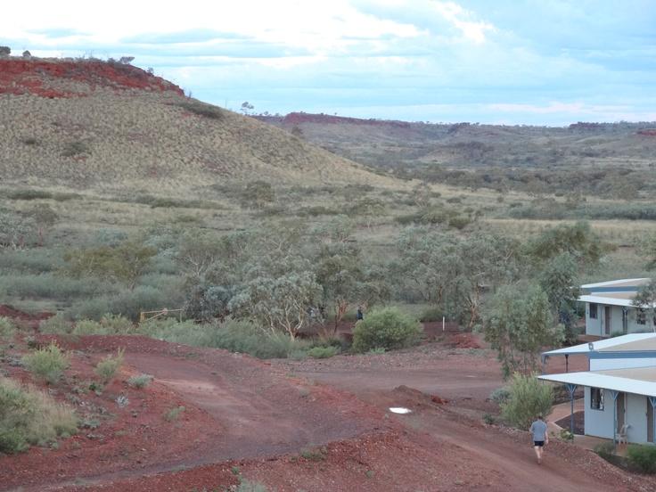 Mine worker in the Pilbara on an evening walk after a 12 hour shift