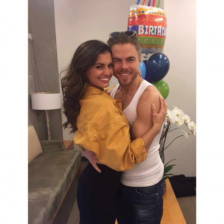Derek Hough celebrates his 32nd birthday with girlfriend Hayley Erbert Derek Hough celebrated his 32nd birthday with his girlfriend Hayley Erbert by his side. #DWTS