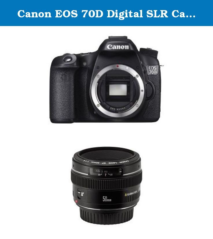 Canon EOS 70D Digital SLR Camera w EF 50mm F1.4 USM Lens Bundle. DPReview Recommended Bundle. Canon EOS 70D Digital SLR Camera (Body Only). Canon EF 50mm f/1.4 USM Standard & Medium Telephoto Lens for Canon SLR Cameras - Fixed.