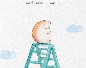 Sweet potato. funny art print. Love card. cute by littlesketchyaus